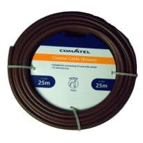 Commtel Brown Coax Cable 25m